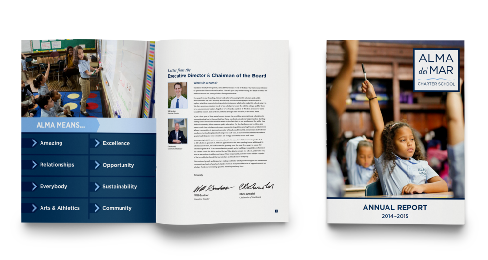 Annual report for a charter school