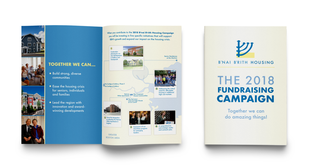 Fundraising brochure for an affordable housing organization