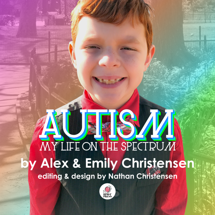Alex is 9 years old, - Alex is 9 years old, and he is on the autism spectrum.  In some ways, that makes him different from other kids, but in other ways he's just like everyone else.  Alex's book lets children with Autism Spectrum Disorders see someone who shares their experiences, presented in a positive and normalizing way.  It also helps familiarize siblings and classmates with some of the common symptoms and behaviors of autism.