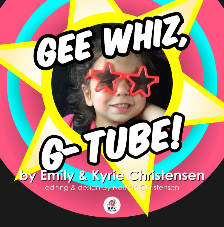 Two-year-old Kyrie - helped write this tender children's book that is illustrated with pop art cartoon drawings fused with everyday pictures of real life with a feeding tube.  The story helps little ones to process in a developmentally appropriate way the feeding tube experience, including transitioning from an ng tube to a g-tube.  It will familiarize both parent and child with the process, as well as providing comfort as well as reducing medical trauma and anxiety.   An easy read, the humor will entertain both the parent and the child, even while discussing such a challenging topic.
