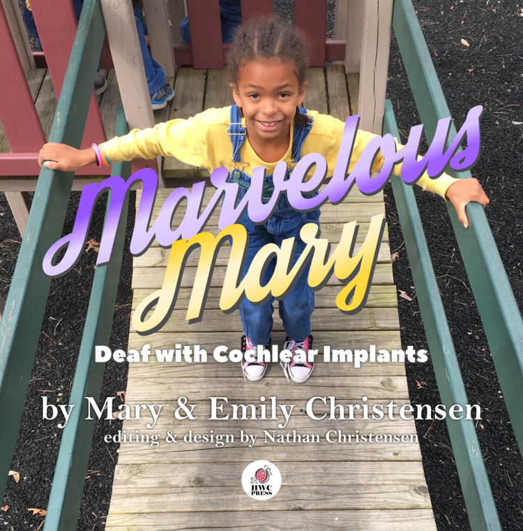 Mary is a young lady - who lost her hearing as a toddler. Starting out in life without much access to language, she struggled to understand the world around her.  When she was adopted from foster care at age six, she both learned sign language and received cochlear implants. Now she has greater access in both Deaf and hearing worlds, and loves reading, music, and making art.  She wants to be a teacher or a scientist someday.