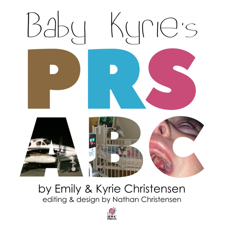 Baby Kyrie's PRS ABC - book is an alphabet book for medically fragile children. Kyrie herself was born with Pierre Robin Sequence (PRS),a condition resulting in a restricted airway and a cleft palate. This alphabet book helps little ones to process pieces of their medical crisis in a developmentally appropriate way.  It will familiarize both parent and child with some of the common procedures experienced in the hospital, providing comfort as well as reducing medical trauma and anxiety.