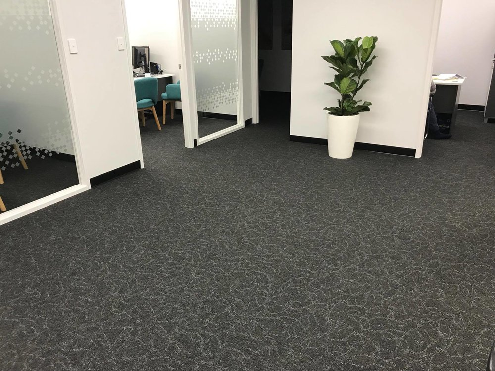 New carpet in offices