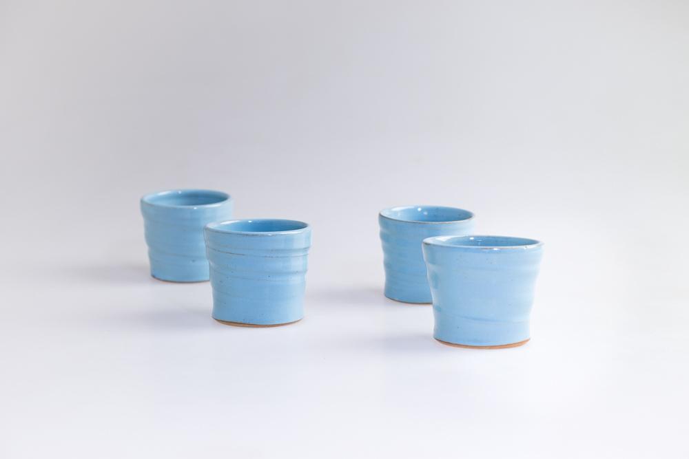Custom espresso cups including custom glaze designed and produced for Dawn Patrol Coffee in Kangarilla, SA in June 2018.