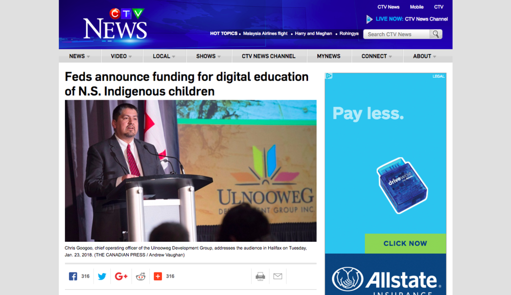 Feds announce funding for digital education of N.S. Indigenous children