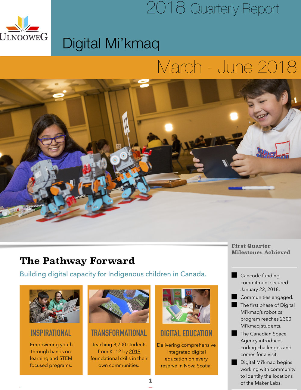March-June 2018 Quarterly Report