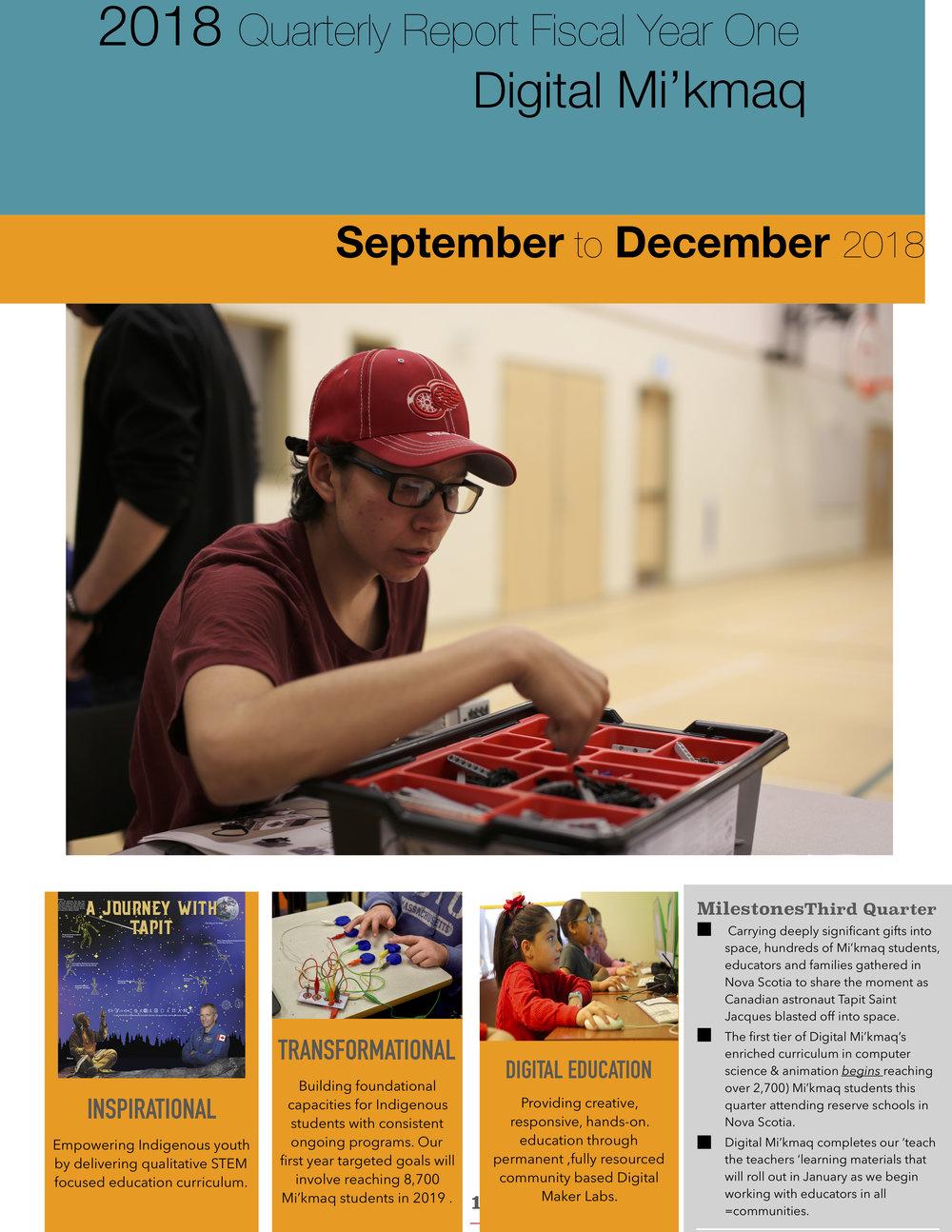 September - December 2018 Quarterly Report