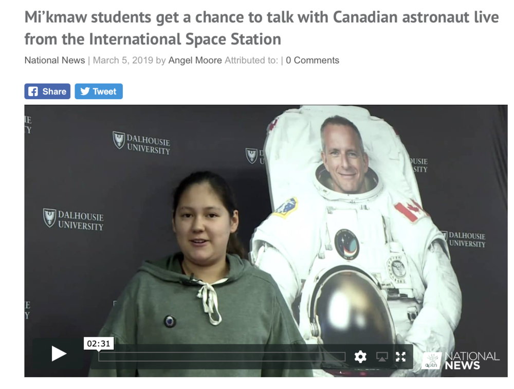 Mi'kmaw students get a chance to talk with Canadian astronaut live from the International Space Station