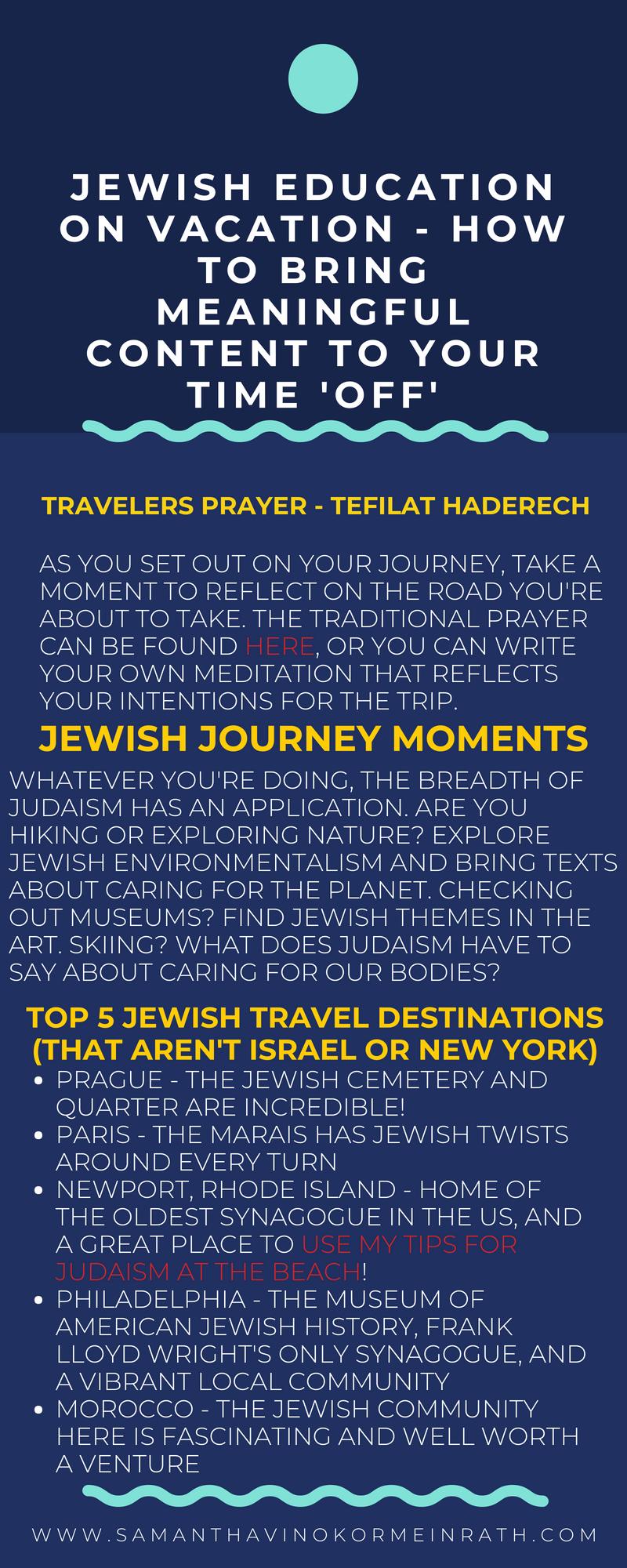 Jewish education on vacation
