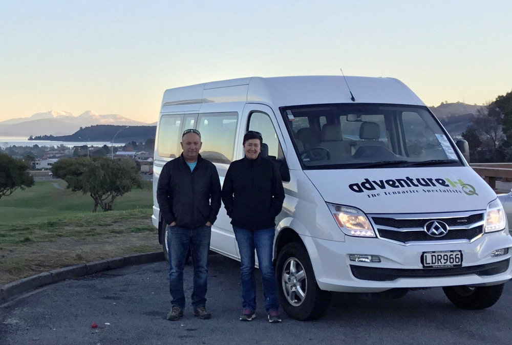 "Deb and Paul - ""A number of people visit Taupo intent on hiking the Tongariro Alpine Crossing or Mt Ruapehu and are disappointed when the weather does not allow them to do so and many of them don't have vehicles"""