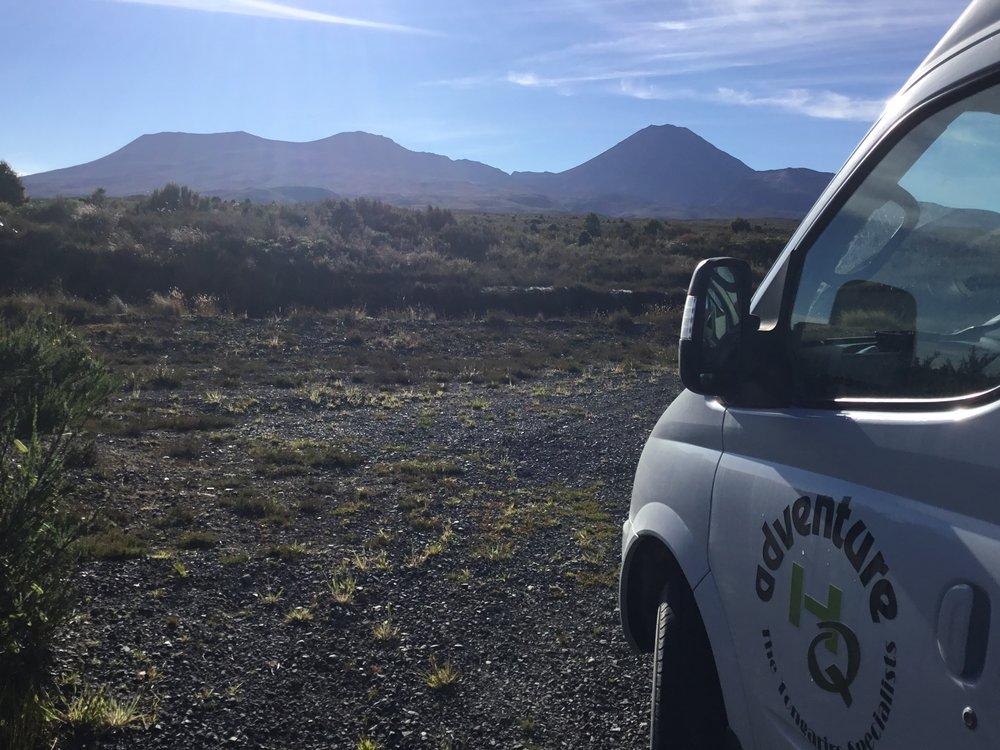 Tongariro scene with van.JPG