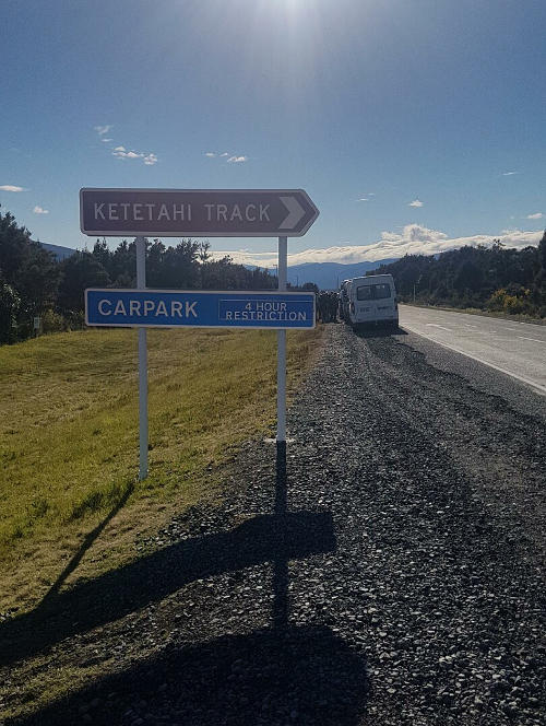 Wait for us by this sign on SH46