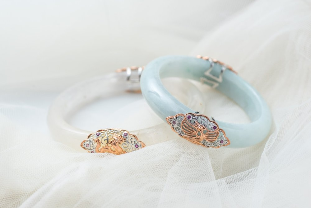 The Dragon & Phoenix (龙凤) Bangle
