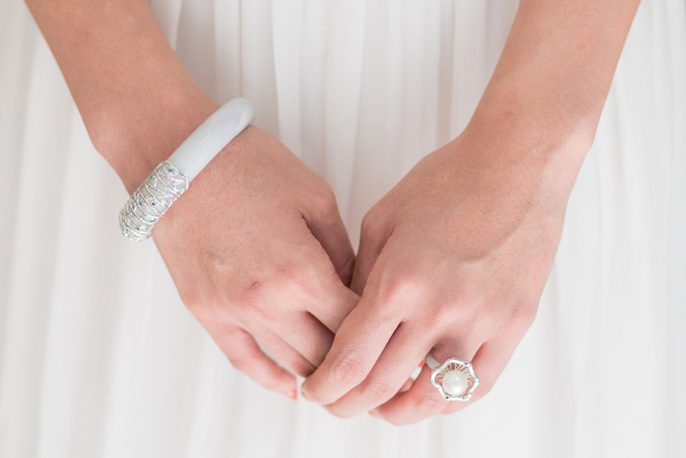 - The Bamboo Forest Jade Bangle, The Bamboo Weave Pearl RingTimeless statement pieces to adorn your wedding dress and to wear beyond your special day.