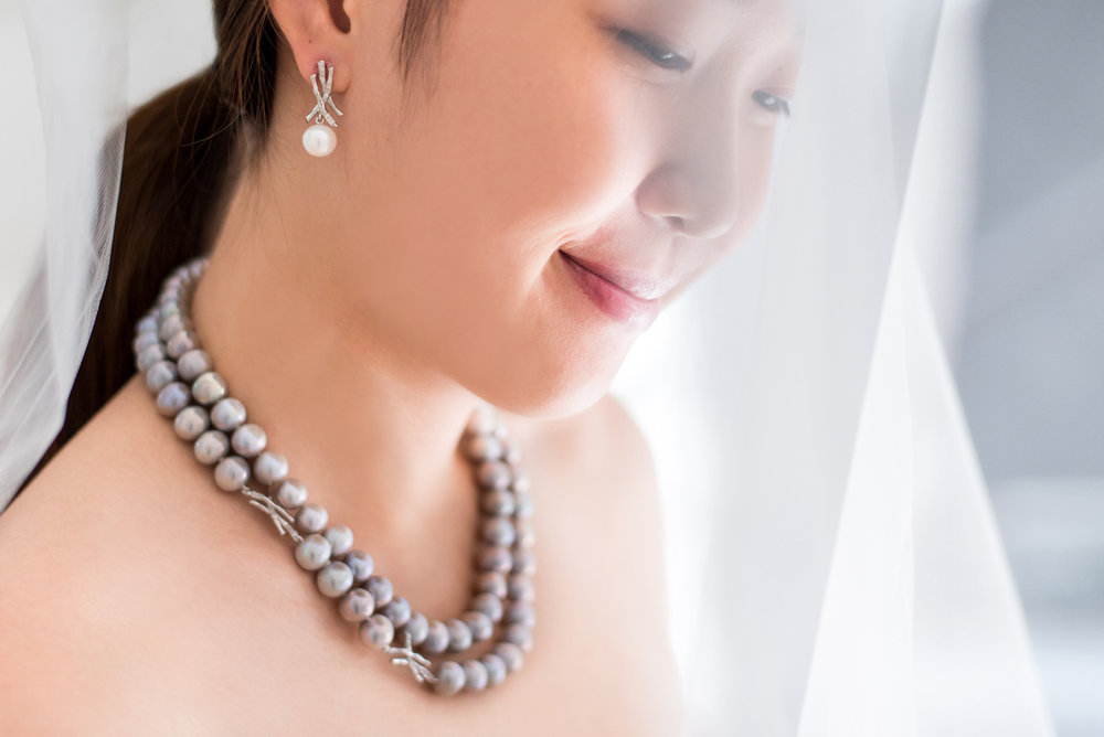 - The Bamboo Pearl Earrings, The Bamboo Pearl Necklace A modern take of the classic pearl interlaced with our symbolic bamboo drape motifs. Simple, elegant, and meaningful.