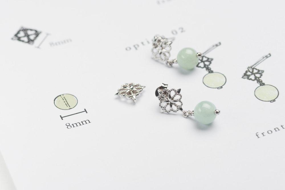 The making of Choo Yilin x Singapore Airlines Batik Jade Earrings