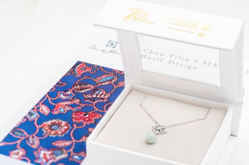 The Choo Yilin x Singapore Airlines Batik Jade Necklace