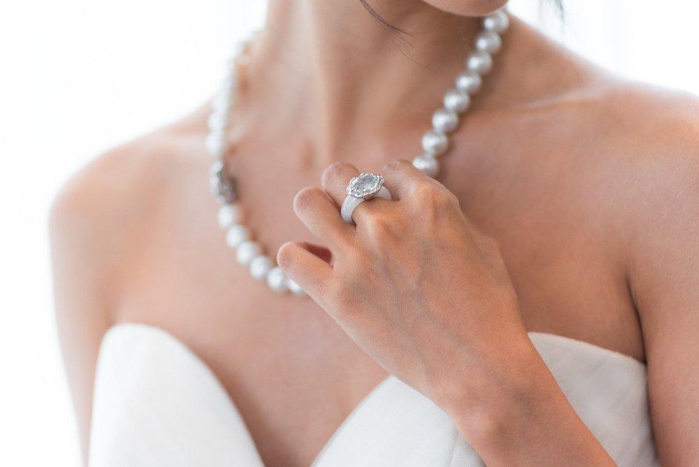 Choo Yilin x Melissa Celestine Koh Styled Wedding Shoot: Peranakan Pearls and Jade Ring