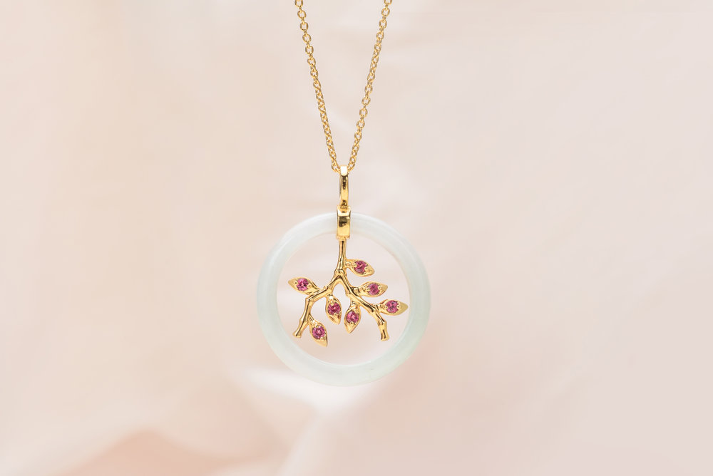 Choo Yilin Bamboo Vine Necklace in 9kt