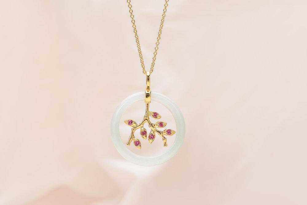 Choo Yilin Bamboo Vine Necklace in 9kt