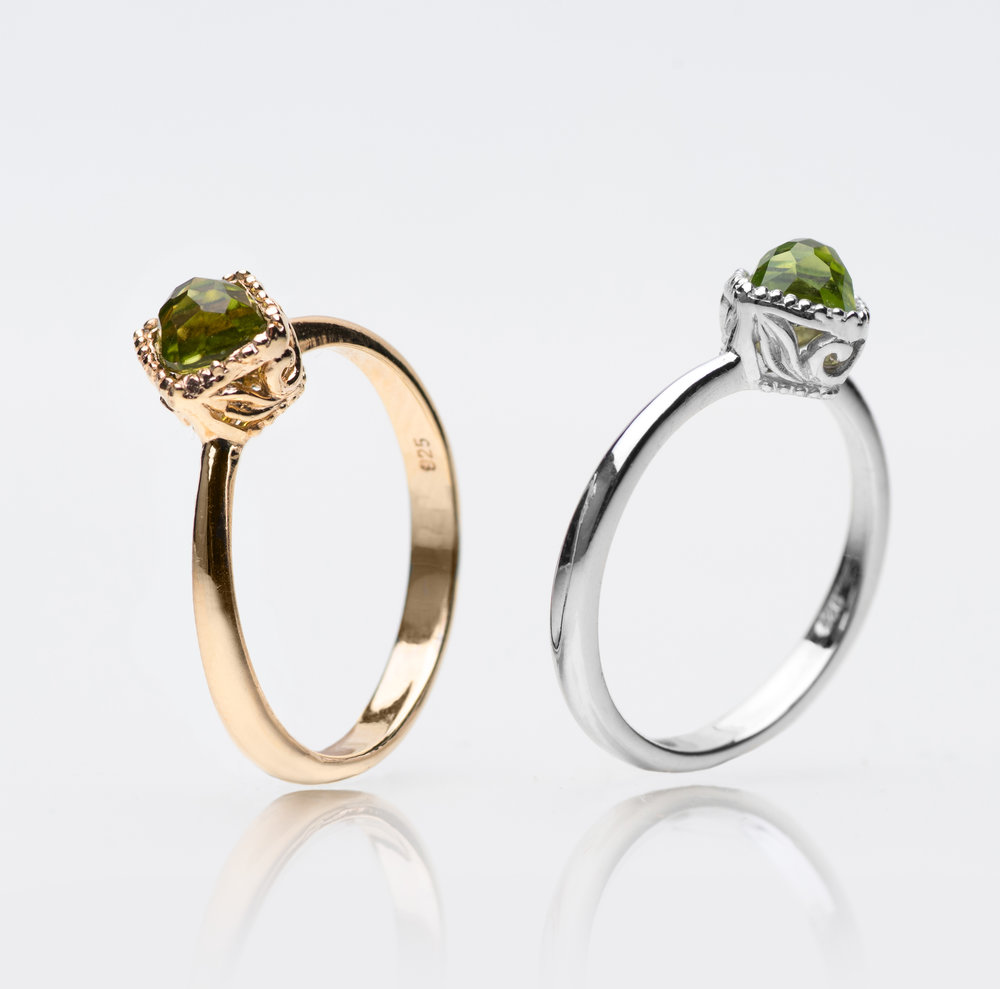 "Peridot: For Growth - August babies, here's a cause for celebration – your birthstone, the stunning Peridot, is thought to strengthen life and bring about pesonal growth. It is said that the origins of Peridot's name is derived from the Greek word ""peridona"" of which its meaning roughly translates into ""giving plenty"".Whilst change and new beginnings don't always come easy, may your Peridot remind you of the unsurmountable growth and abundance coming your way. Generosity and growth when held hand in hand makes for the admirable qualities of a modern day hero."