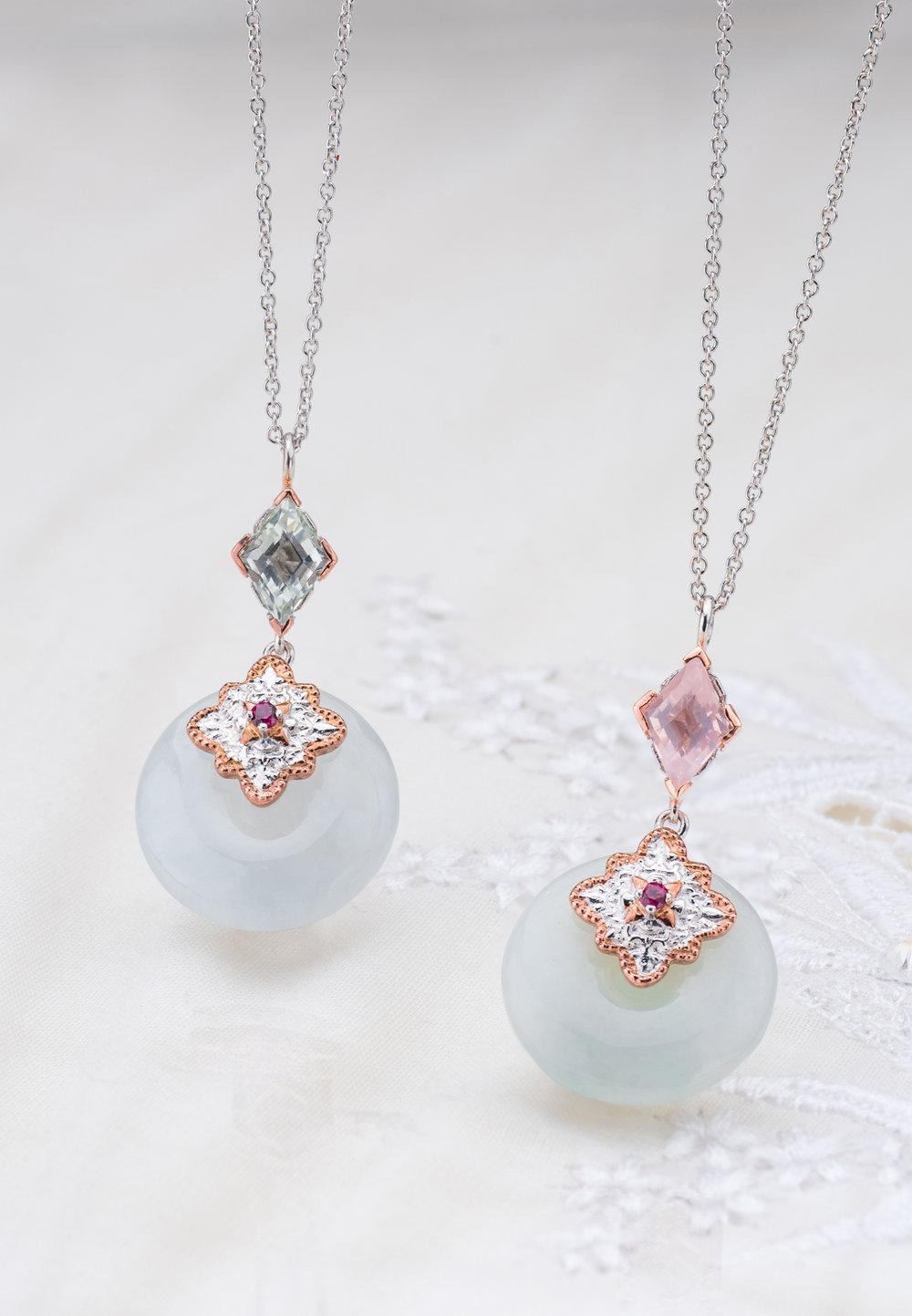 Choo Yilin Kebaya Jade Donut Necklace