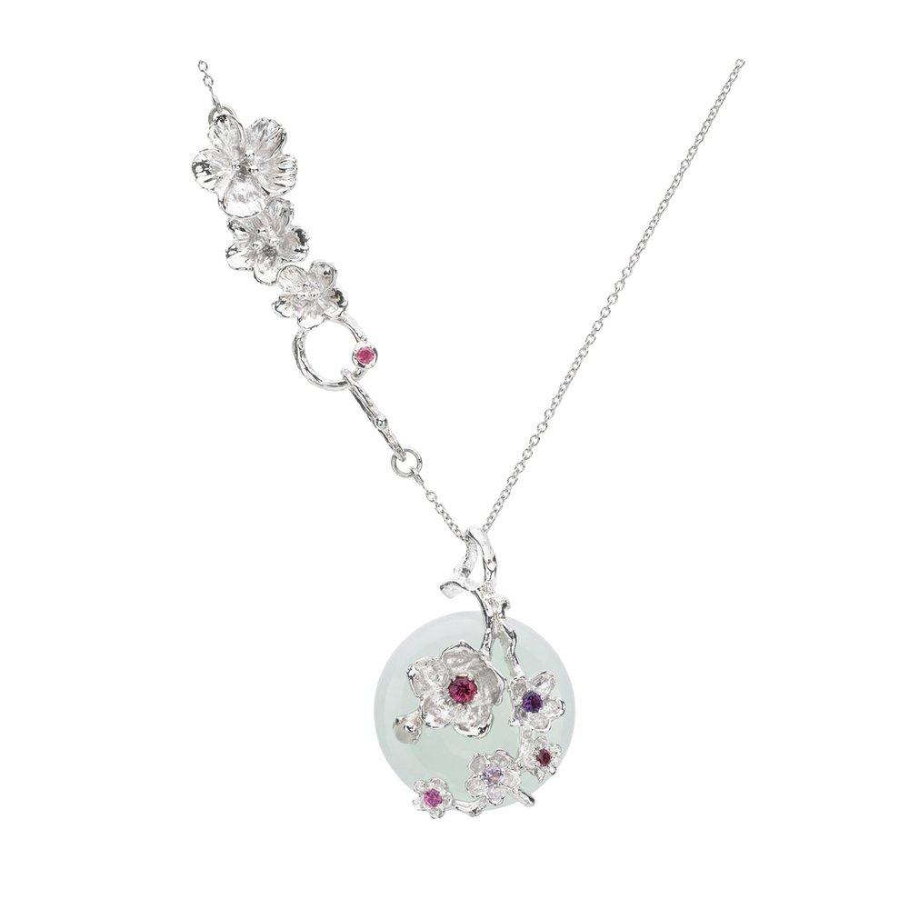 Choo Yilin Cherry Blossom Branch Necklace