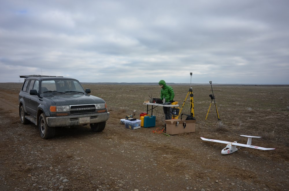Preparing to launch an operation over Wy0ming with a fixed-wing sUAS.