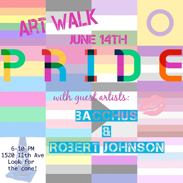 Art Walk is NEXT Thursday! We'll have the studio open, with lots of new works up; as well as guest artists @burtitos and @lolasagan. . . . . . . . . . . . .  #blueconestudios #seattle #seattleart #capitolhillseattle #studio #art #artist #painting #painter #photography #photographer #sculpture #community #pnw #pnwartists #makemoreart #gallery #visualarts #seattleartists #igers_seattle#ig_artists #ig_mood #fineart #capitolhillartwalk #artwalk #pride #pride🌈 #pridemonth