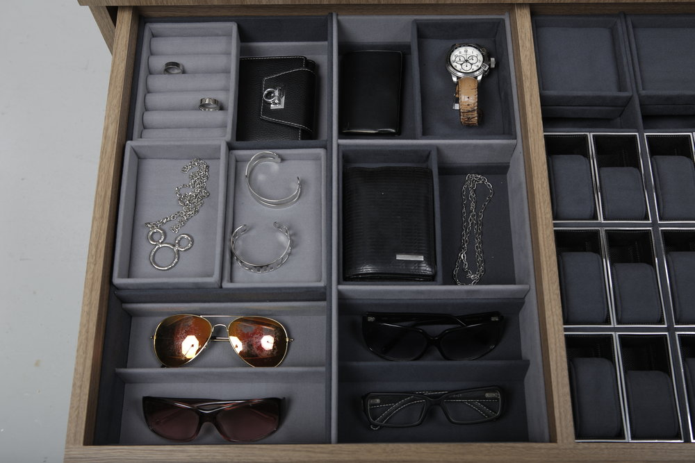 Compact Multi-Layer Compartment Drawer