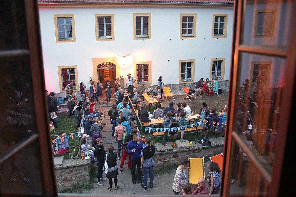 Blick auf das Barocke Pfarrhaus  zum ORLA Gründungsfest, 2018 Foto: Matthias Schumann © ORLA e.V.