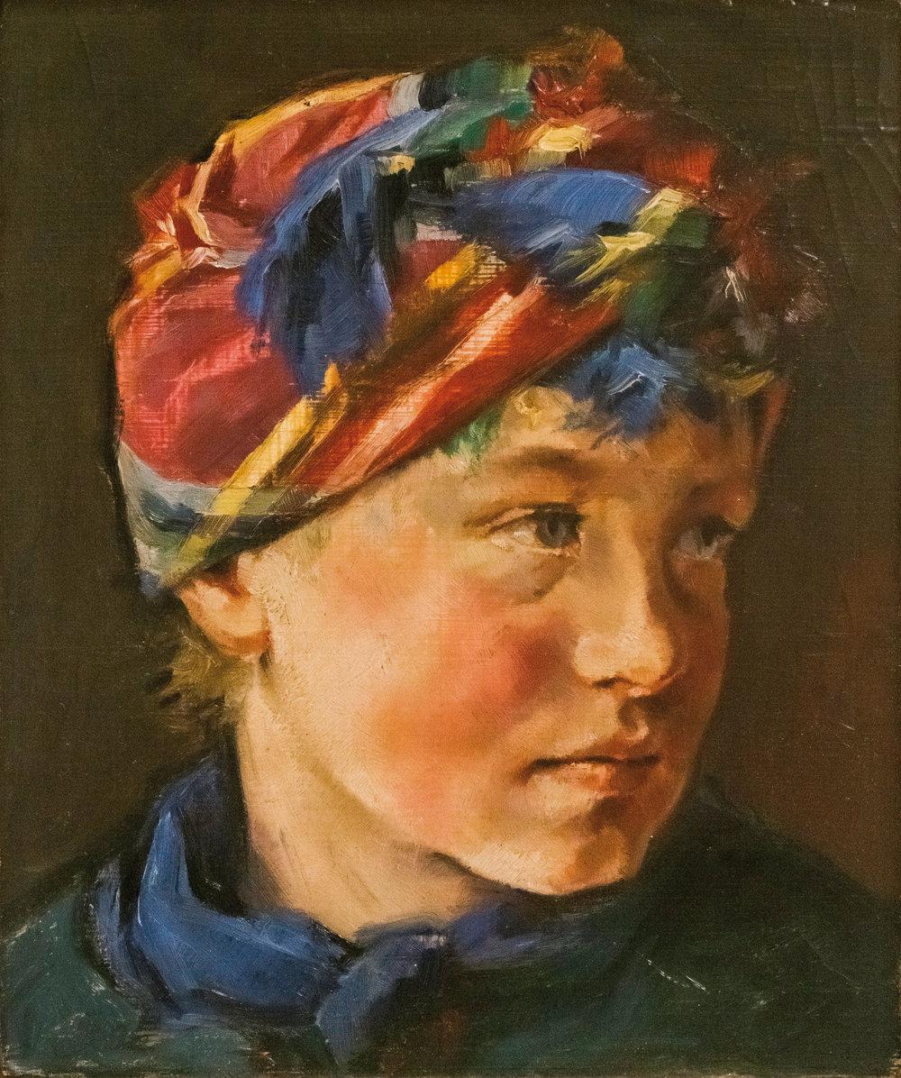 """Werner Juza, """"Flüchtlingskind aus Pommern"""", 1956; Öl auf Holz, 24 x 28,5 cm Film- und Fotoaufnahmen zur Ausstellung: René Plaul, Foto © ORLA e.V."""