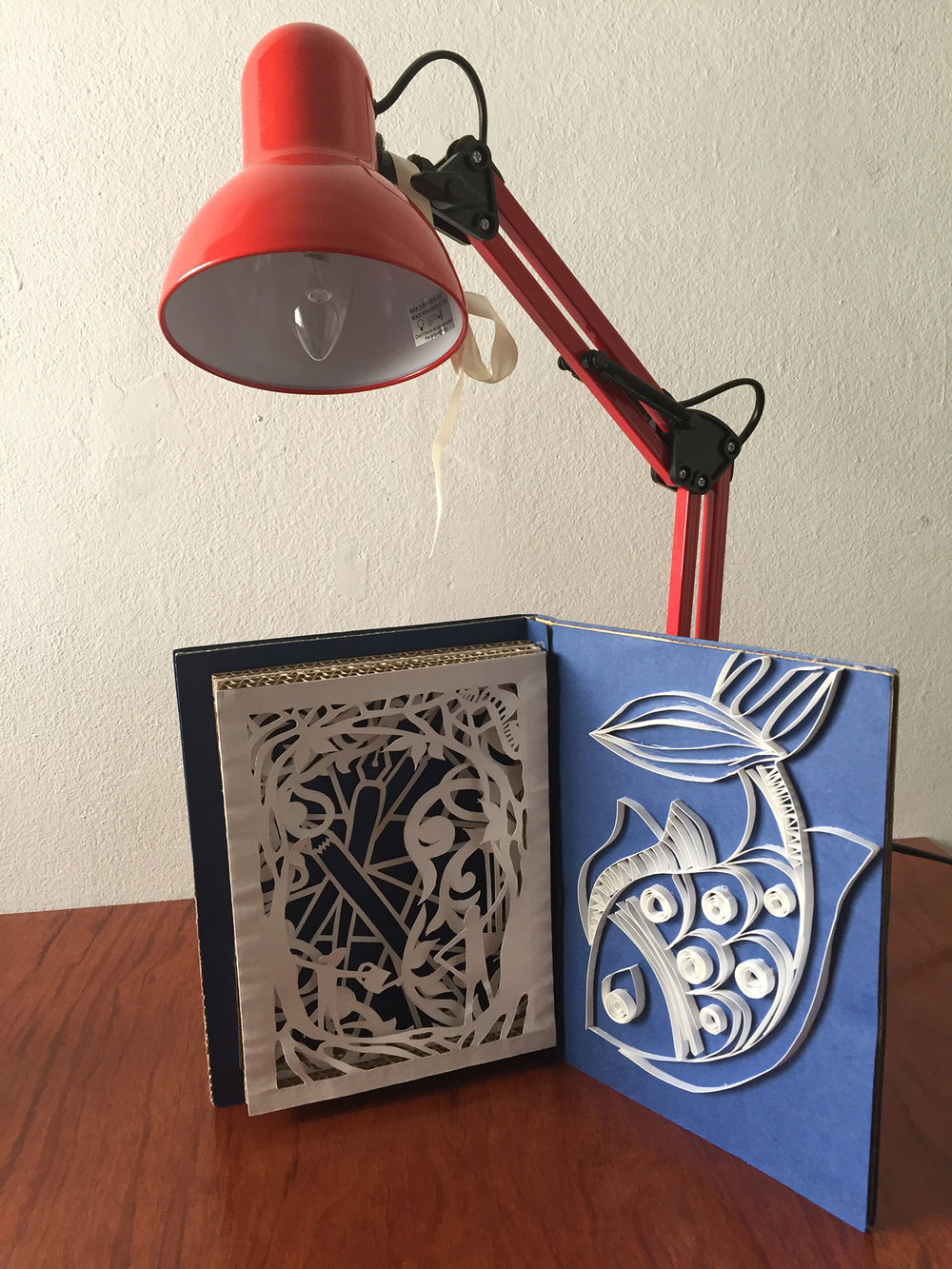 SELF PORTRAIT   Cutwork, Quilling, and Woodblock Print