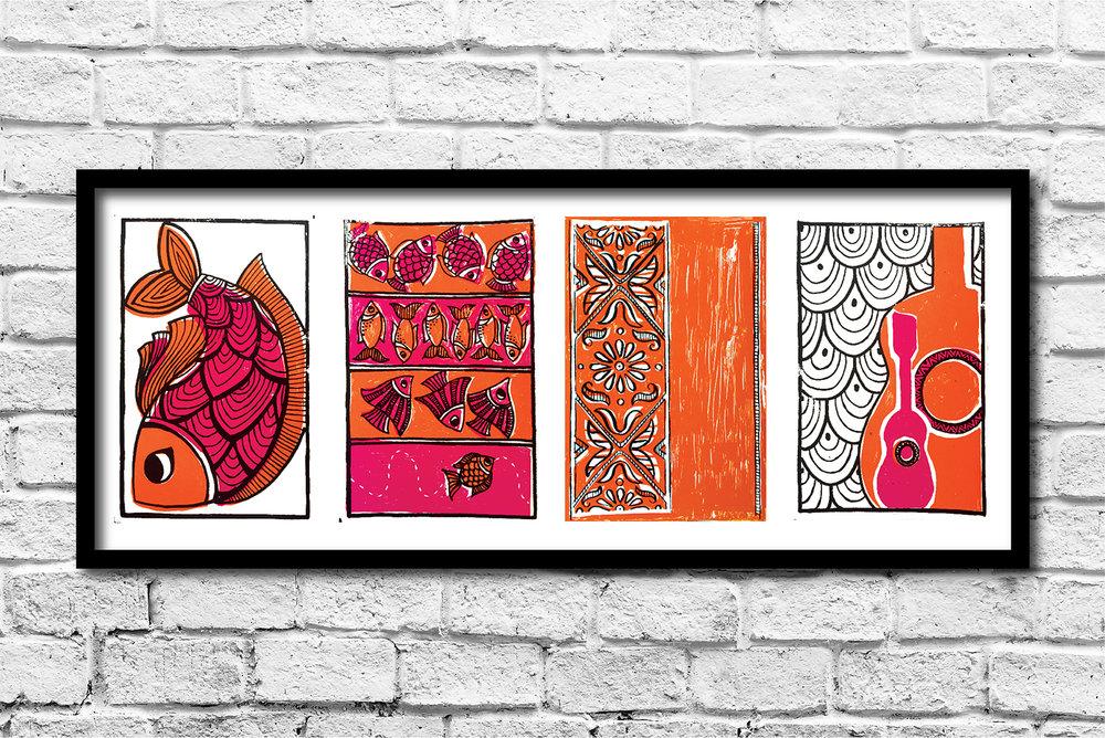 POSTALES   Silkscreen Print