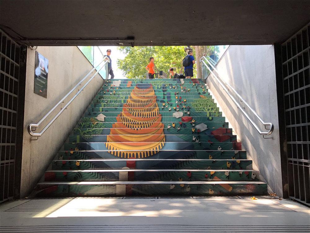 MOTHERCHIP | SWAB Stairs, Metro Drassanes, Barcelona 2017