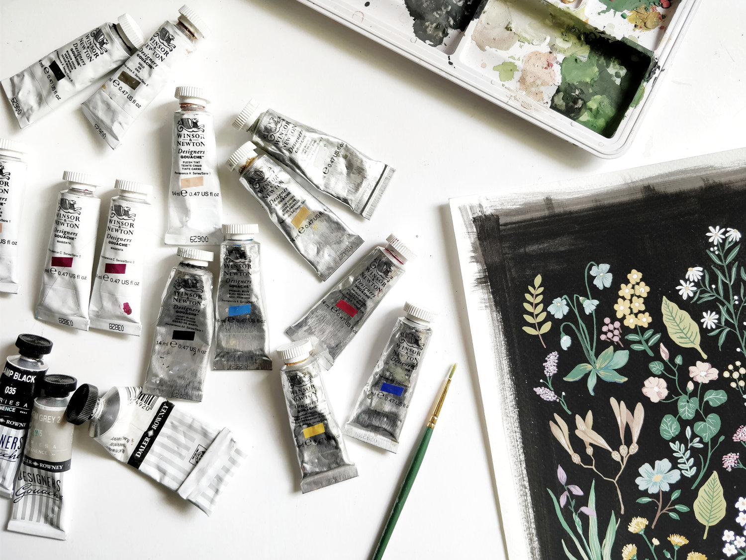 INTRODUCTION TO GOUACHE – The Ink Bucket