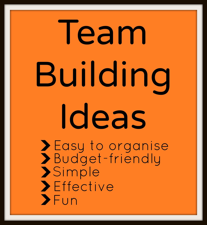 Easy Office Based Team Building Ideas