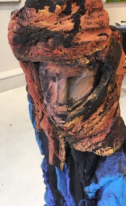 Homme du desert - Terre cuite - Ht 134cm