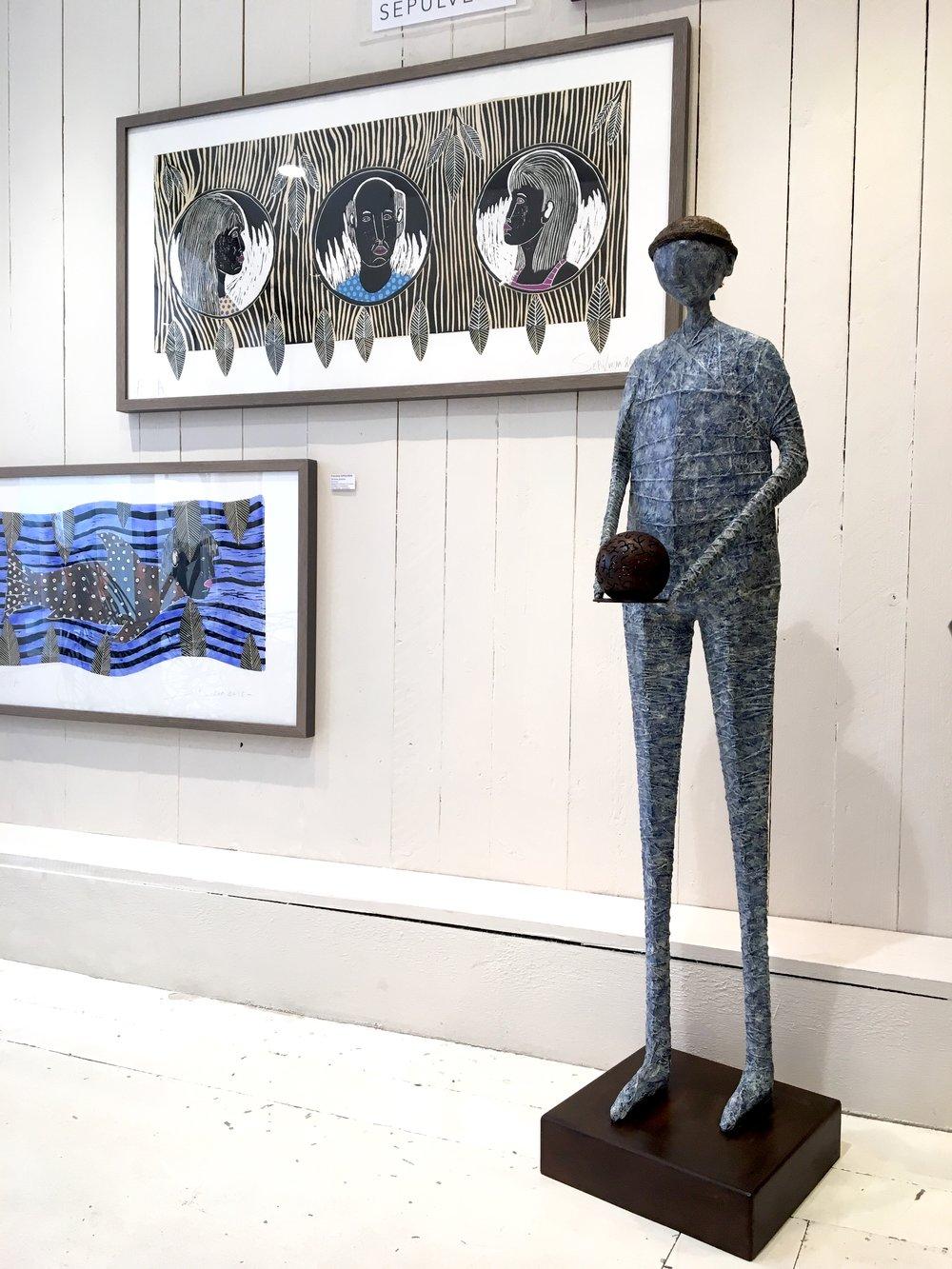 Sculpture : Le porteur de lumière d'Edmundo SOLARI  Gravures de Francisco SEPULVEDA