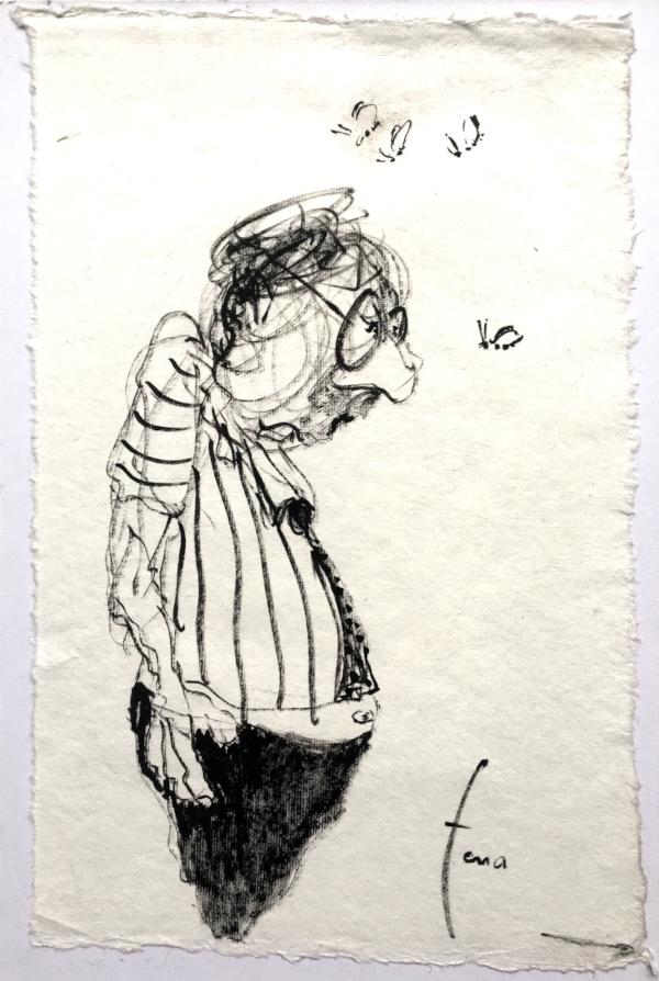 Crayon sur papier Arches - 28,5 x 18,5 cm - 2018