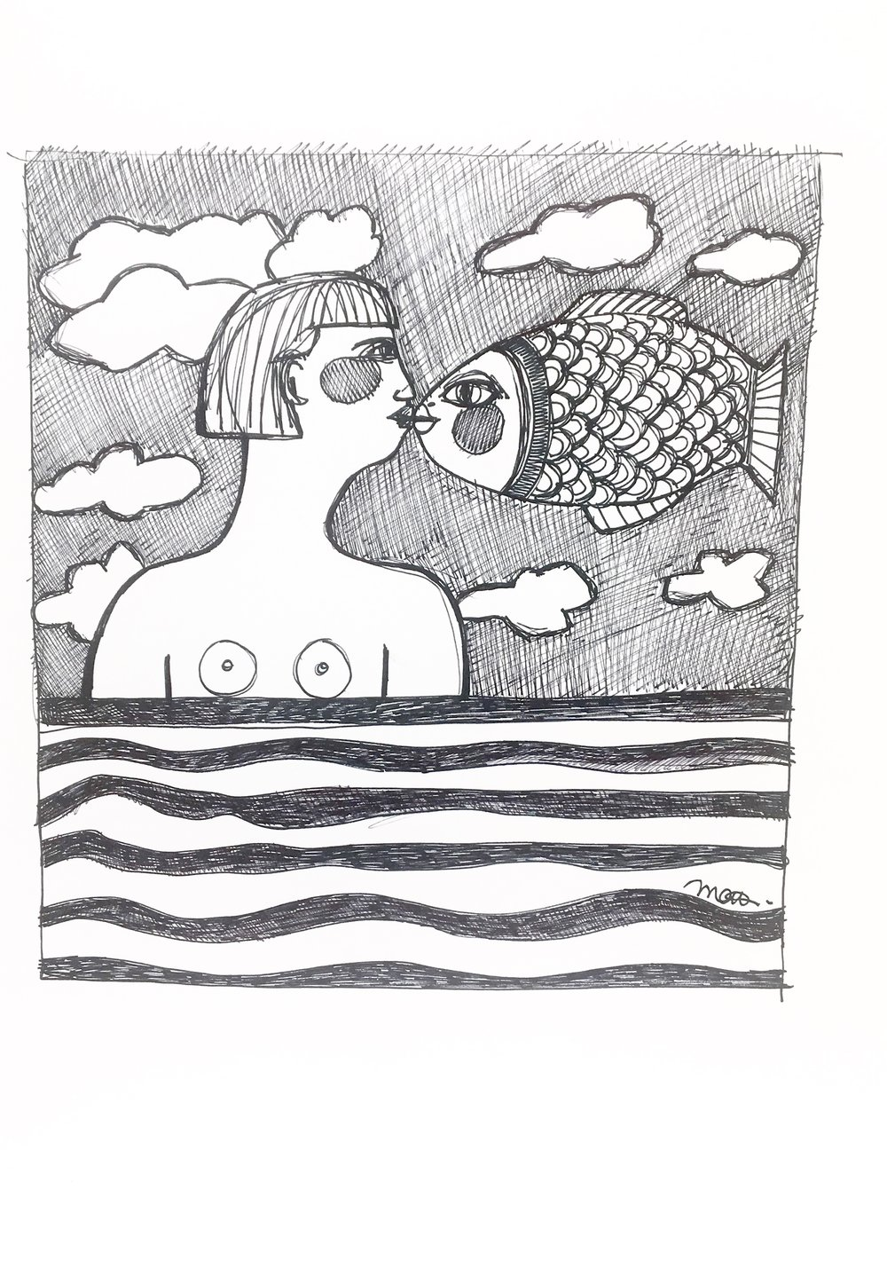 Le baiser du poisson - VENDU