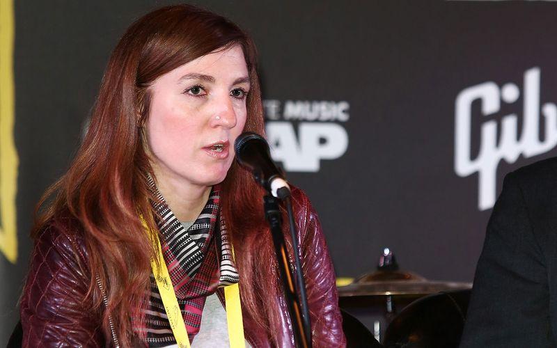 Mia Bays speaks at the Hub Talk for Film London Microwave during the Sundance London Film.jpg