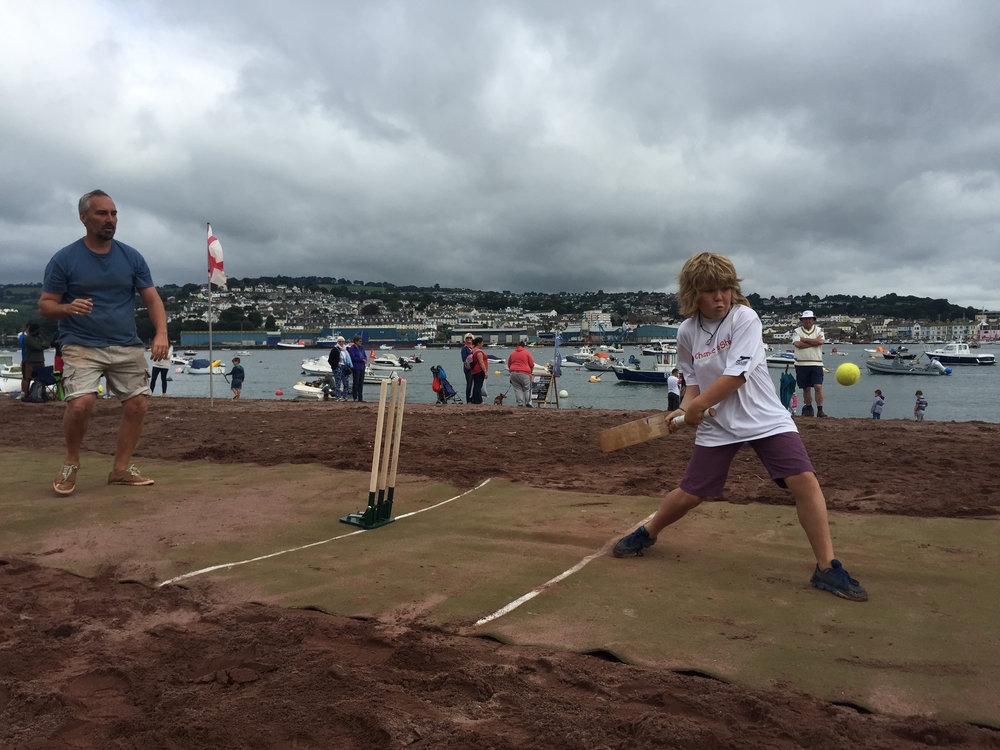 Beach Kricket - There aren't many cricket pitches found on the beach, but on the second Monday of Regatta there is on Shaldon beach! River fielding is strictly in rowing boats in this six-a-side knockout competition.