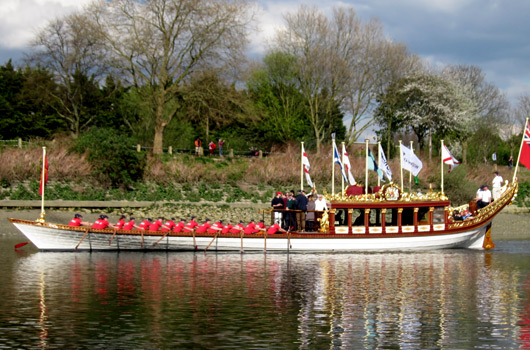 Sweet Chestnut timber was supplied for constuction of Gloriana