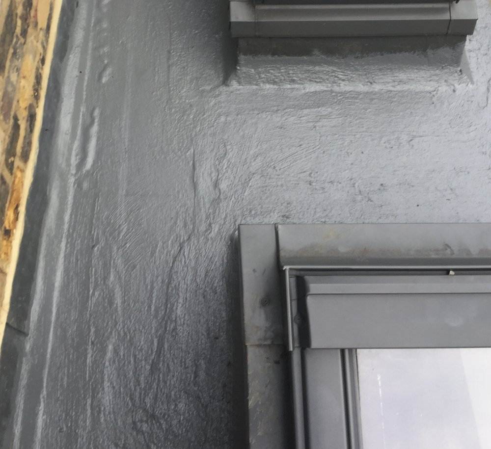 Here's James checking on a reported leak at in Stratford. We sealed the leak and applied new coats of waterproof fibreglass.