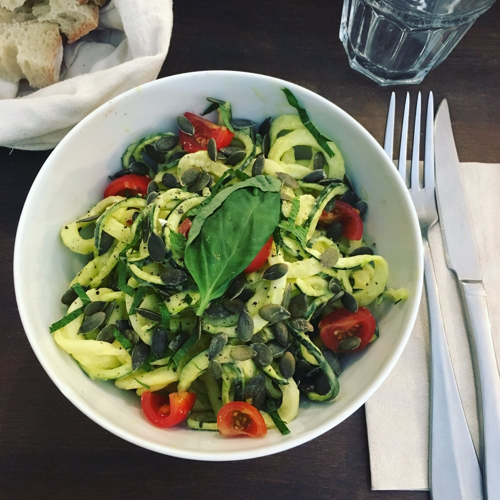 pates et légumes cru