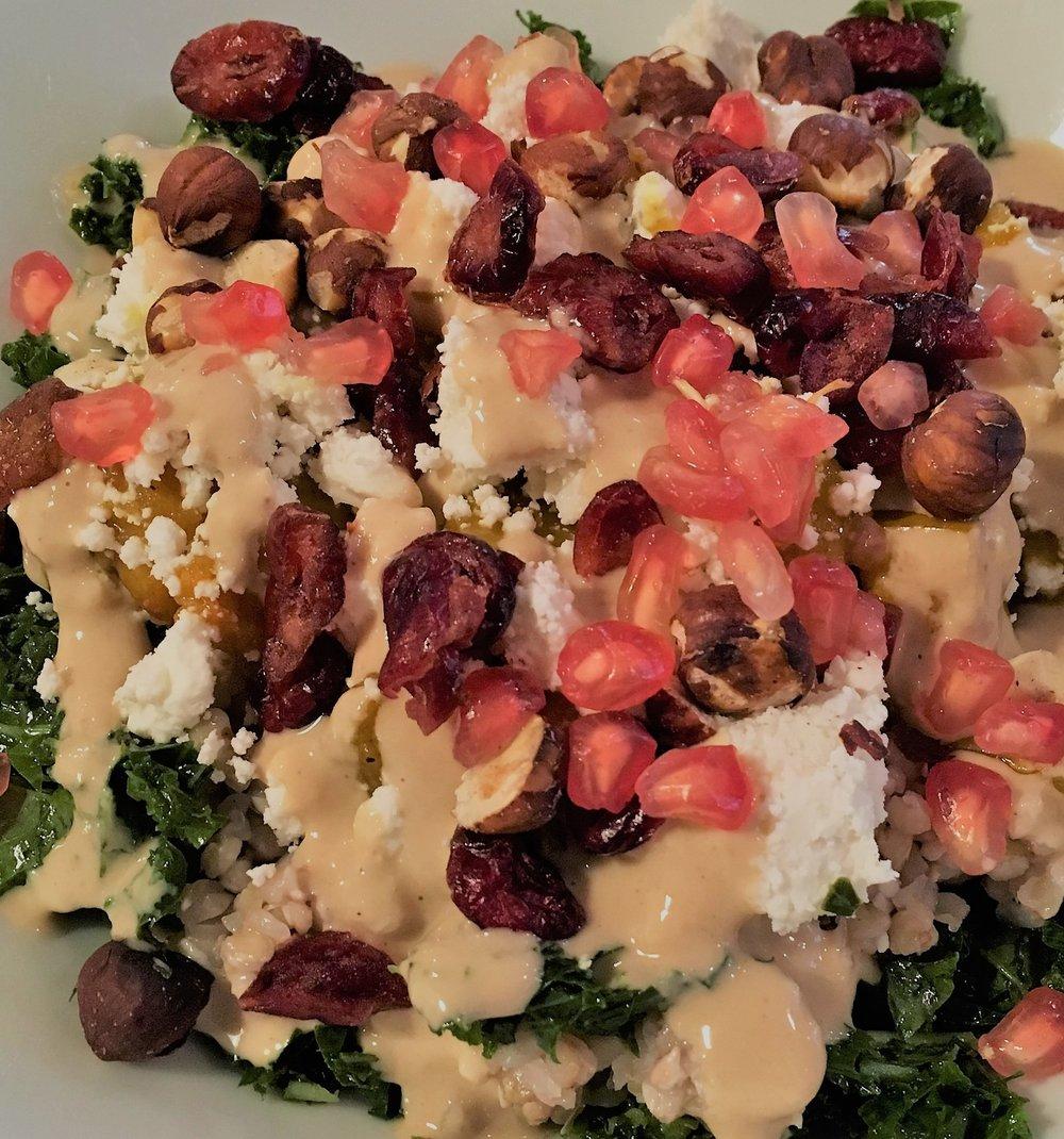 cuisine sans gluten Automn kale salad Positive Café.jpg