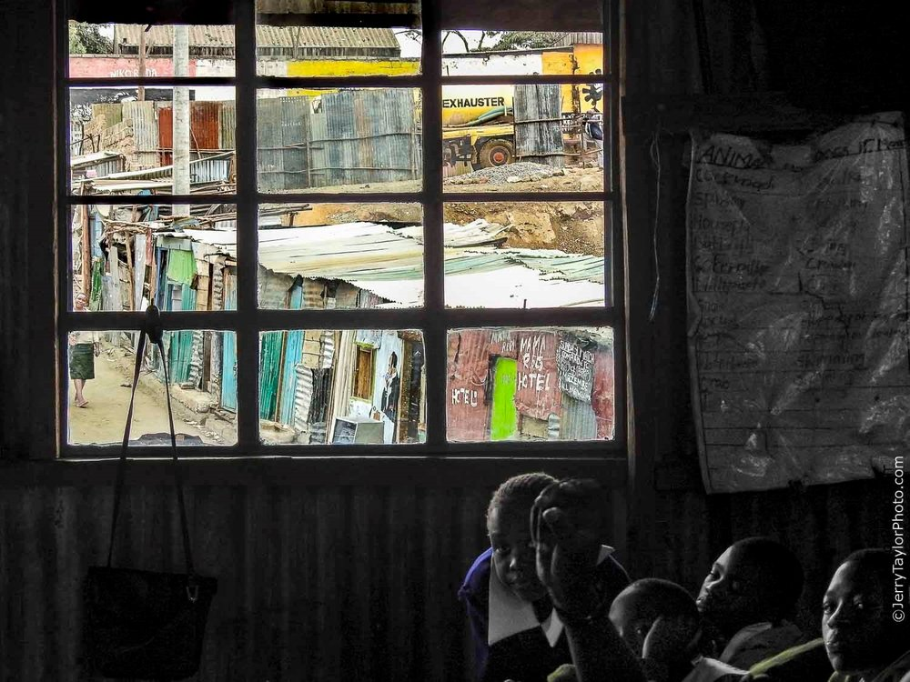 Mathare Valley Slum Classroom in Nairobi, Kenya East Africa – Nikon Coolpix P900 f/4 85mm 1/200 sec ISO 100