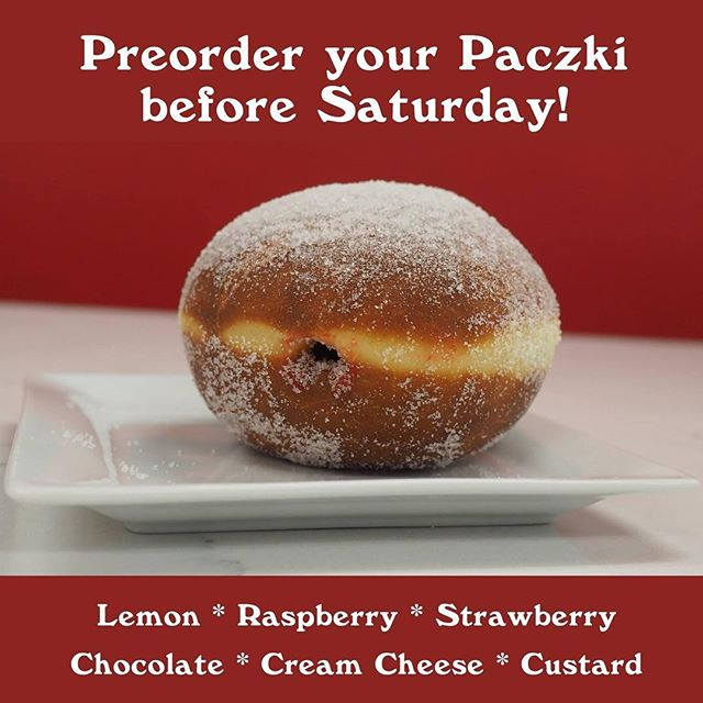 Preorders are Open for Red Coach Paczki! Make sure to get them in before this Saturday! #fattuesday #paczki #redcoachdonuts #donuts #bakery #stevensville #michigan #puremichigan #swmi #coffee