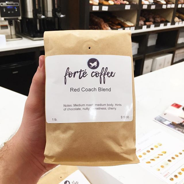 We are proud to announce our new coffee blends! We now offer our special blend of medium roast from @fortecoffee.michigan as well as Martinson's Seattle Dark Roast! • • #local #coffee #medium #dark #roast #beans #redcoachdobuts #swmi #bakery
